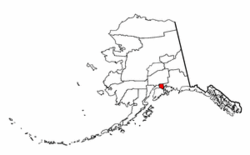 Alaska Map showing Anchorage County