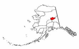 Alaska Map showing Fairbanks North Star County