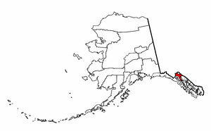 Alaska Map showing Haines County