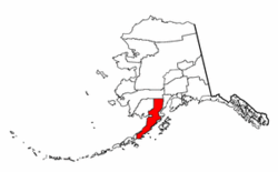 Alaska Map showing Lake and Peninsula County