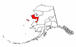 Alaska Map showing Nome County