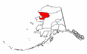 Alaska Map showing Northwest Arctic County