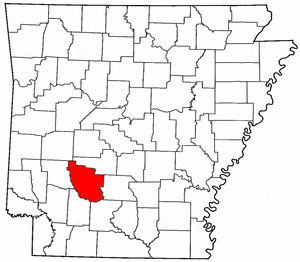 Arkansas Map showing Clark County