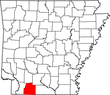 Arkansas Map showing Columbia County