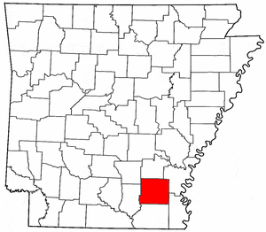 Arkansas Map showing Drew County