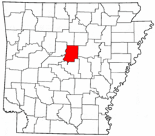 Arkansas Map showing Faulkner County