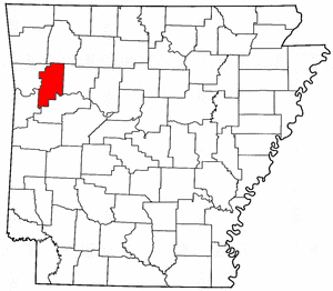 Arkansas Map showing Franklin County