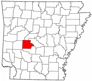 Arkansas Map showing Garland County