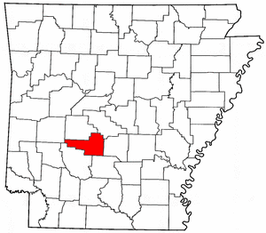 Arkansas Map showing Hot Spring County