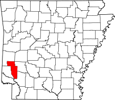 Arkansas Map showing Howard County