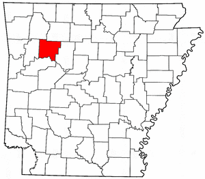 Arkansas Map showing Johnson County