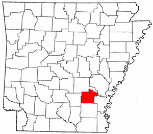 Arkansas Map showing Lincoln County