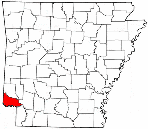 Arkansas Map showing Little River County