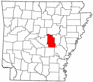 Arkansas Map showing Lonoke County