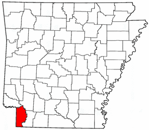Arkansas Map showing Miller County