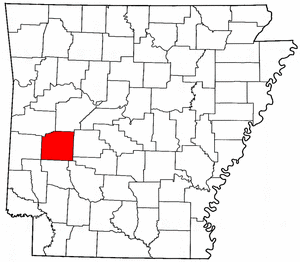 Arkansas Map showing Montgomery County