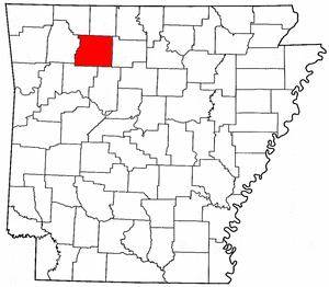 Arkansas Map showing Newton County