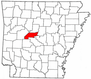 Arkansas Map showing Perry County
