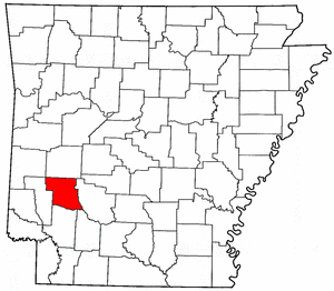 Arkansas Map showing Pike County