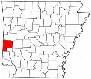 Arkansas Map showing Polk County