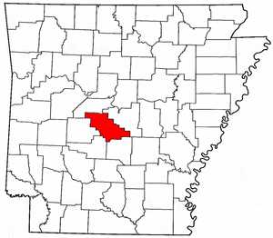 Arkansas Map showing Saline County