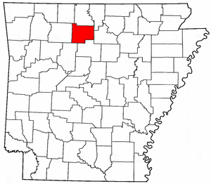 Arkansas Map showing Searcy County