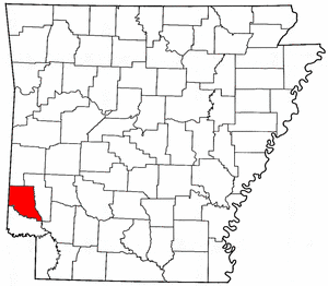 Arkansas Map showing Sevier County