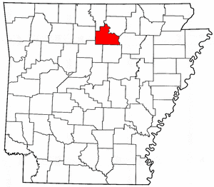 Arkansas Map showing Stone County