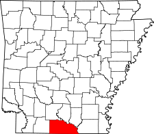 Arkansas Map showing Union County