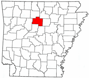 Arkansas Map showing Van Buren County