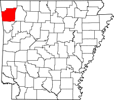Arkansas Map showing Washington County