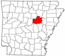 Arkansas Map showing White County