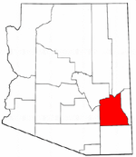 Arizona Map showing Graham County