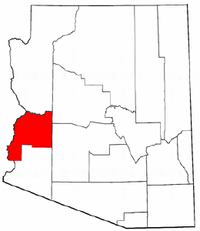 Arizona Map showing La Paz County