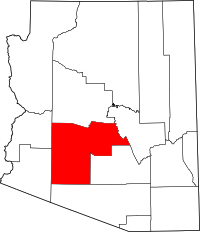 Arizona Map showing Maricopa County