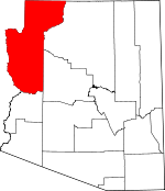 Arizona Map showing Mohave County