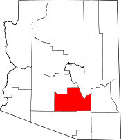 Arizona Map showing Pinal County