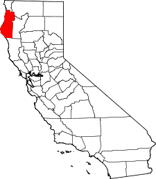 California Map showing Humboldt County