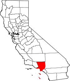 California Map showing Los Angeles County