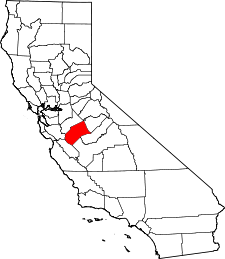 California Map showing Merced County