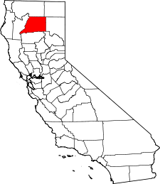 California Map showing Shasta County