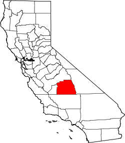 California Map showing Tulare County