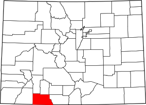Colorado Map showing Archuleta County