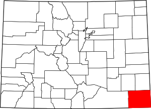 Colorado Map showing Baca County