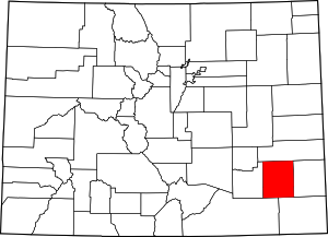 Colorado Map showing Bent County