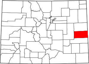 Colorado Map showing Cheyenne County