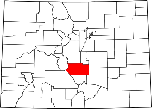 Colorado Map showing Fremont County