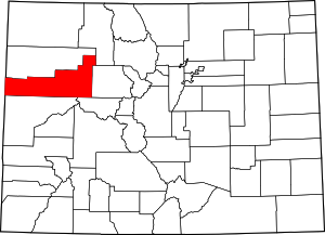 Colorado Map showing Garfield County