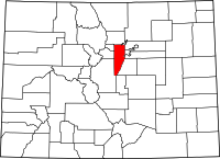 Colorado Map showing Jefferson County