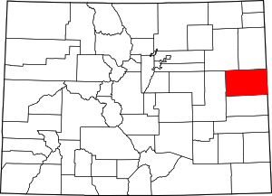 Colorado Map showing Kit Carson County